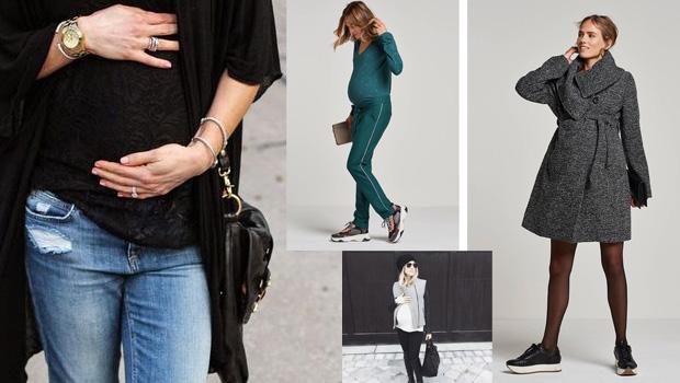 zwangerschapsmode trends, zwangerschapsmode, hippe zwangerschapskleding, positiekleding winter 2018, maternity fashion, pregnancy styles