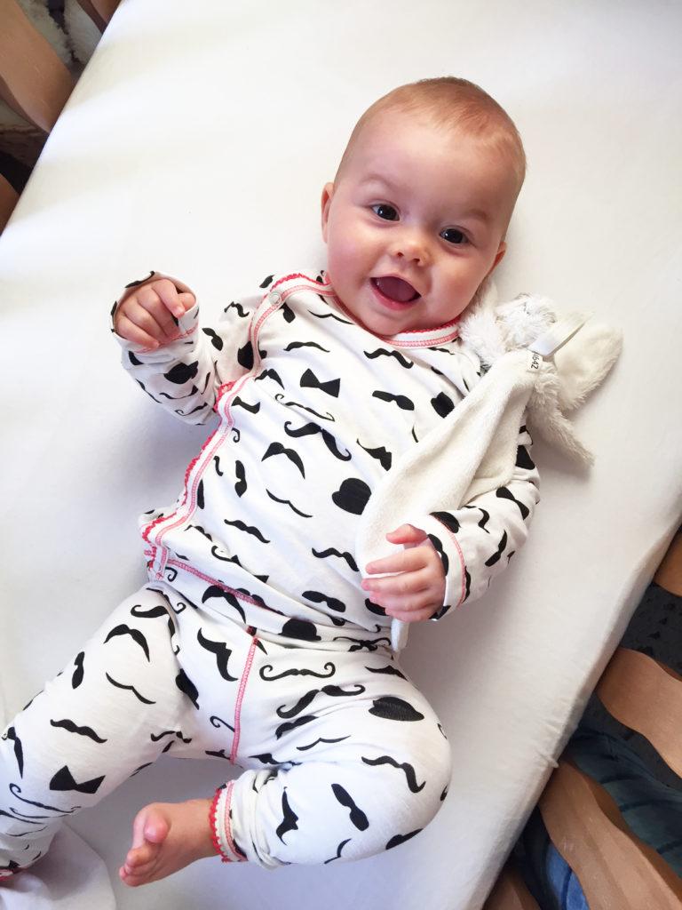 baby pyjama, pyjama claesens, pyjama moustache, babylabel review