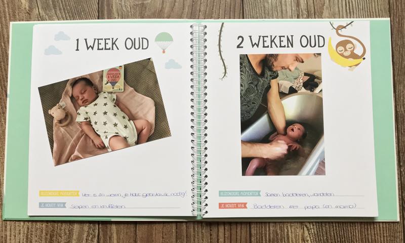 baby's eerste jaar invulboek, milestone babyboek, milestone baby invulboek