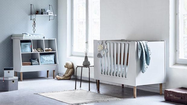 Scandinavische babykamer, done by deer, commode, baby commode kast
