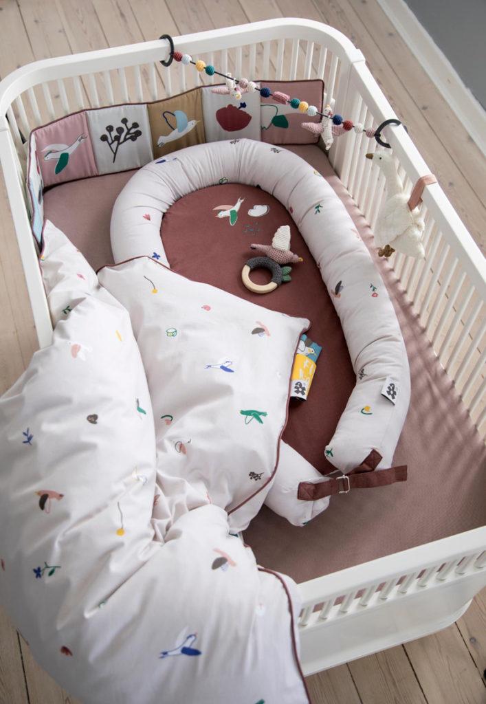 Scandinavische babykamer, singing birds, sebra beddengoed, baby beddengoed