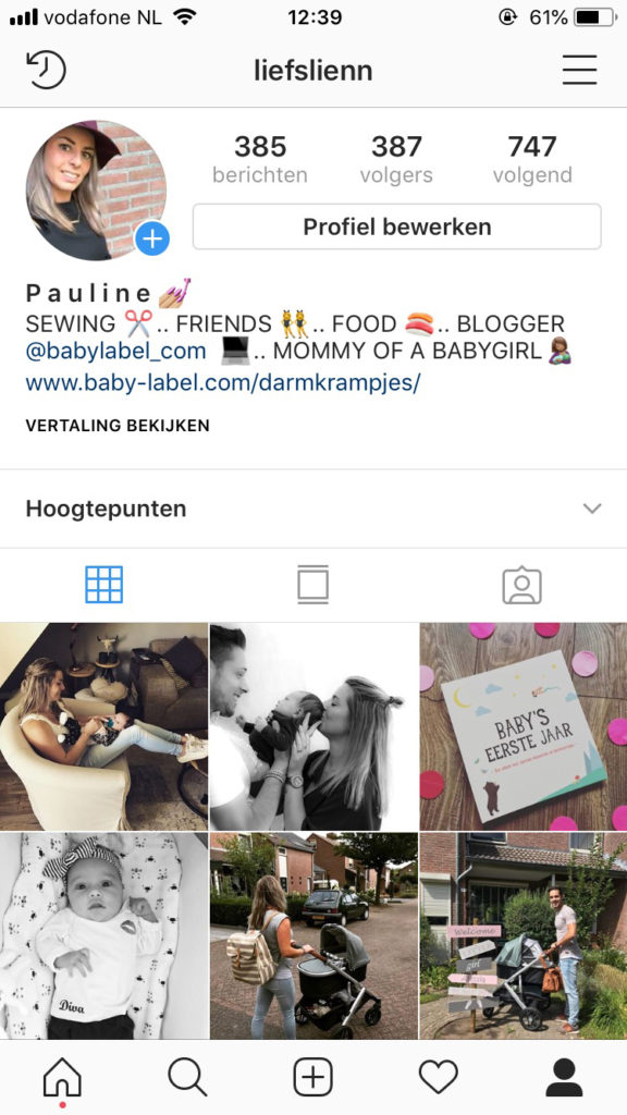 baby op social media, kind op social media , blog baby label