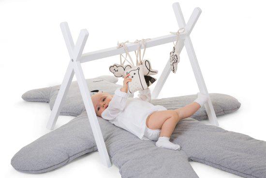 childwood houten babygym, wit houten babygym