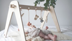 houten babygym, babygym, babylabel
