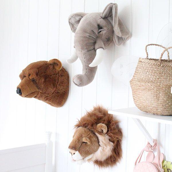 safari babykamer, dieren hoofden, dierenkamer, babykamer thema