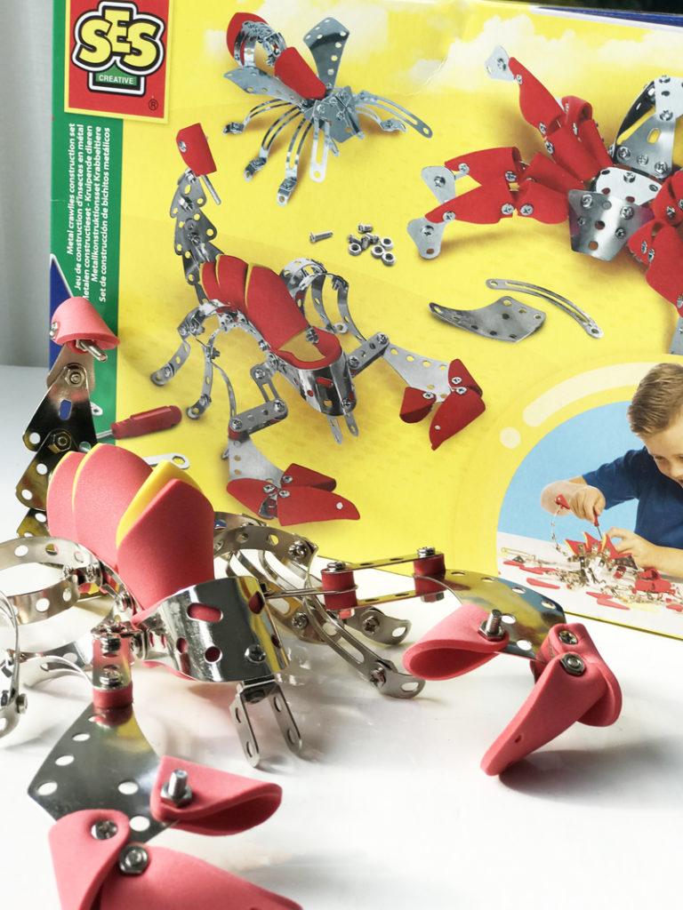 SES metalen constructie set kruipende dieren, bouwspeelgoed, jongensspeelgoed, constructiespeelgoed, meccano