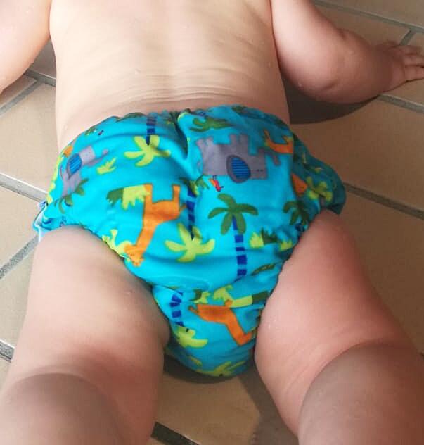 Zwemluierbroekje, zwembroekje met luier, babyzwemles, babyzwemmen