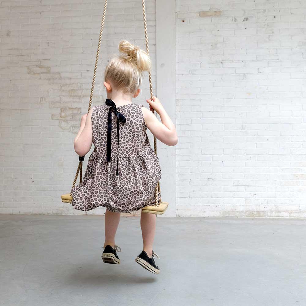 panterprint jurkje, luipaard babykleding, luipaardprint baby kleding