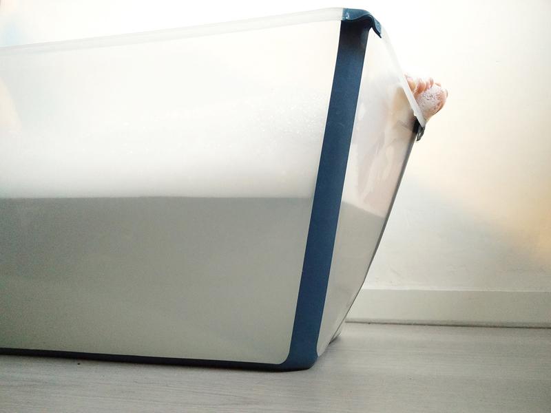 Stokke Flexi Bath, opvouwbaar kinderbad, stokke babybadje review, babylabel