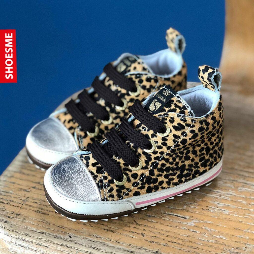 babyschoentjes met luipaardprint, baby sneakers