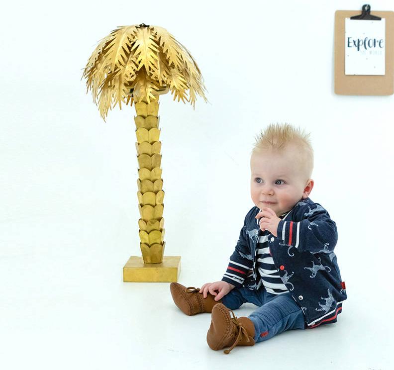 BESS babykleding, baby vestje met panterprint, baby jasje met luipaardprint