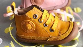 gele loopschoentjes, gele babyschoenen, babyschoentjes, shoesme babyschoentjes