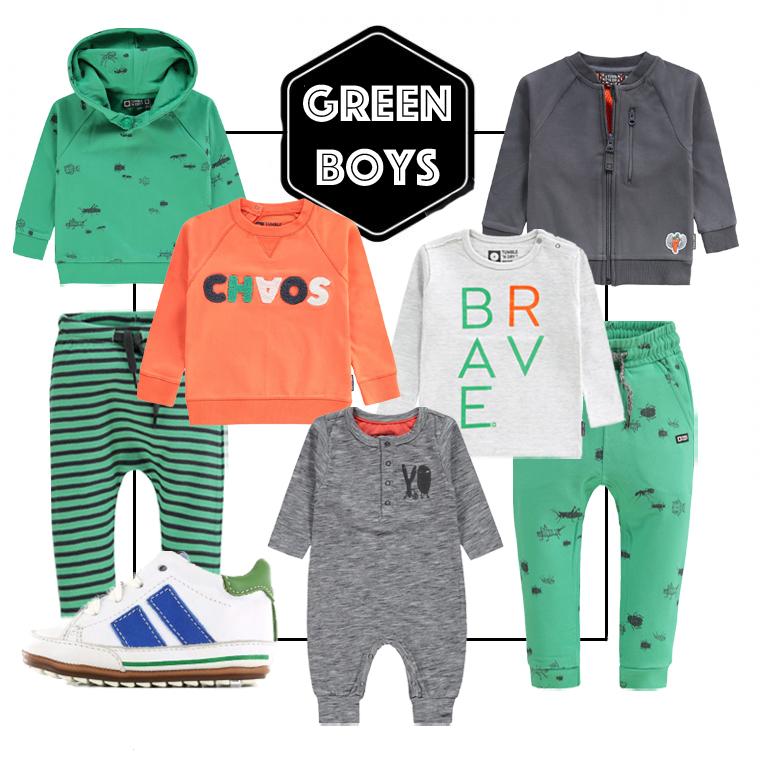 groene babykleding, tumble n dry baby, babykleding jongen, babyjongen, babyboy