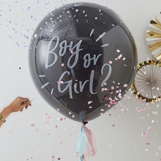 jongen of meisje ballon, baby gender reveal, gender reveal feest