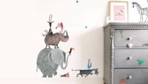 Muurstickers van Fiep Westendorp, dieren muursticker kinderkamer, dieren muurstickers babykamer