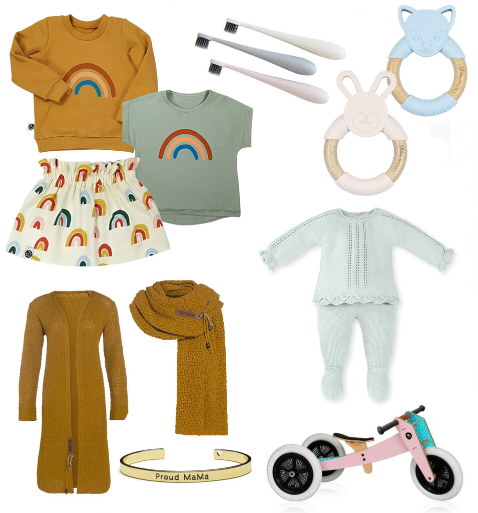 mevrouw schaap, gebreide babykleding, kraamcadeau, mama vesten, proud mama armband