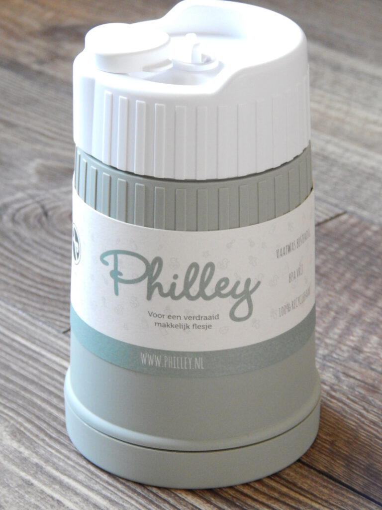 philley test, philley melkpoeder bewaardoos, babylabel