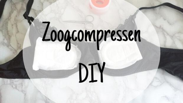 zoogkompressen DIY, zoogkompressen maken, borstvoeding tip