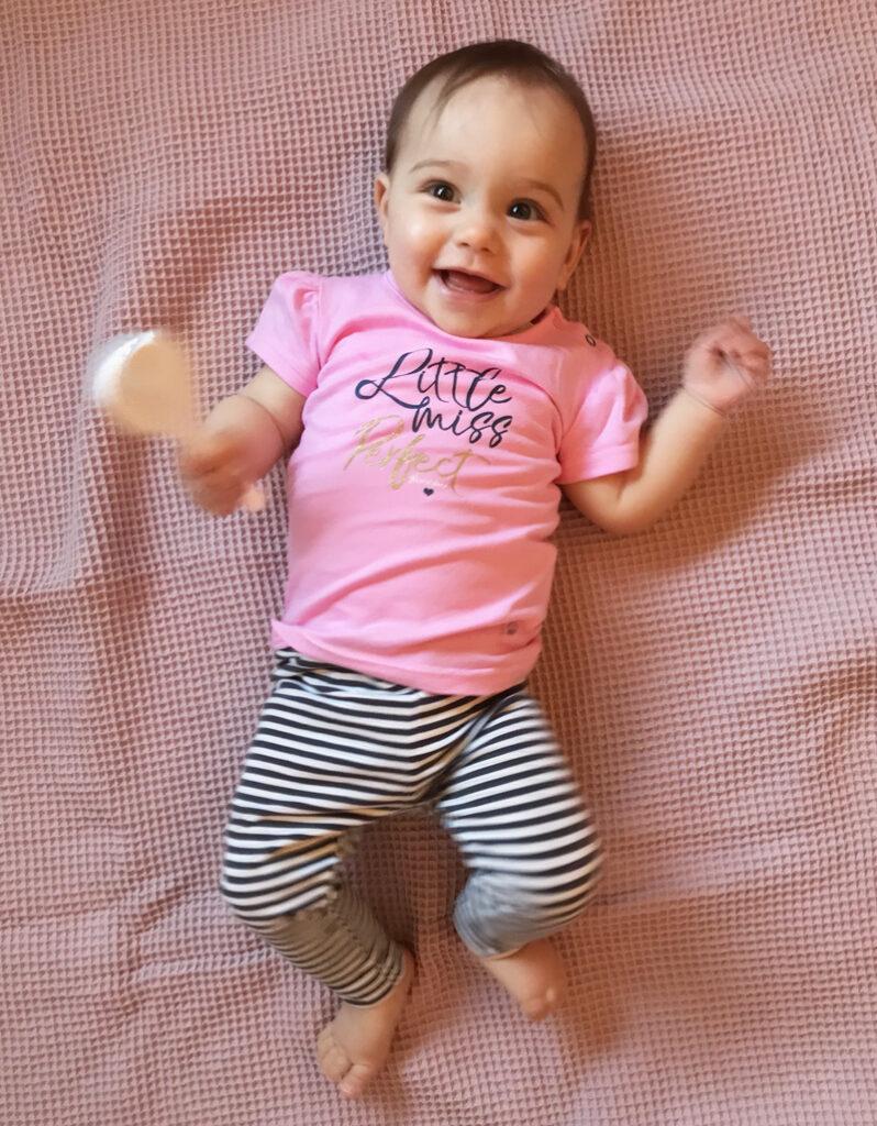 bampidano babykleding, roze baby t-shirt, baby meisjeskleding