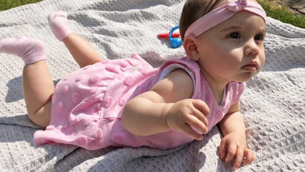 bampidano babykleding, roze babyjurkje, baby meisjeskleding, babygirl