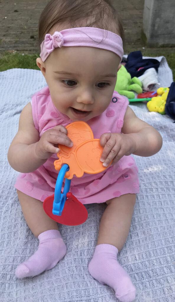 roze babyjurkje, review babykleding babylabel