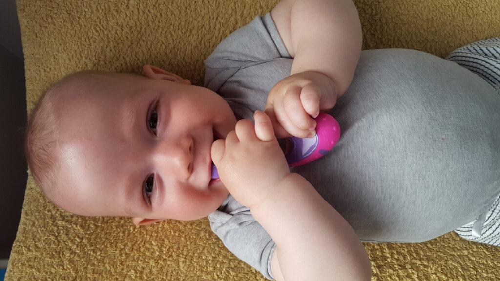 eerste babytandjes, wanneer komen de eerste tandjes, doorkomende tandjes, babylabel blog, baby ontwikkeling