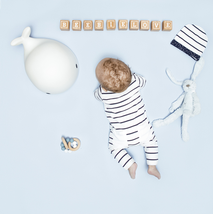 Beebielove basics, baby jongen, gestreept boxpakje