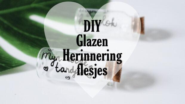 DIY herinnering flesjes, glazen herinnering flesjes maken, DIY baby herinneringen