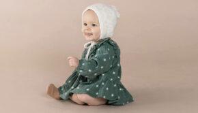 zeegroen jurkje baby, rylee and cru