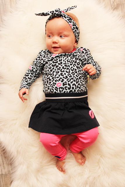 panterprint babyjurkje, babyjurkje, bnosy babykleding