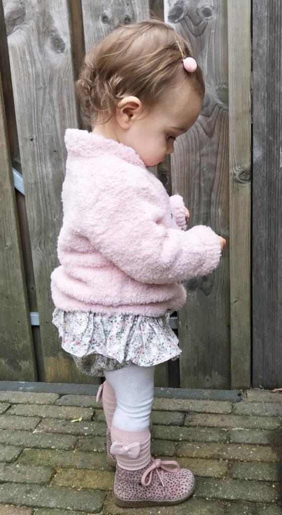 noppies babyvestje, roze babyvestje