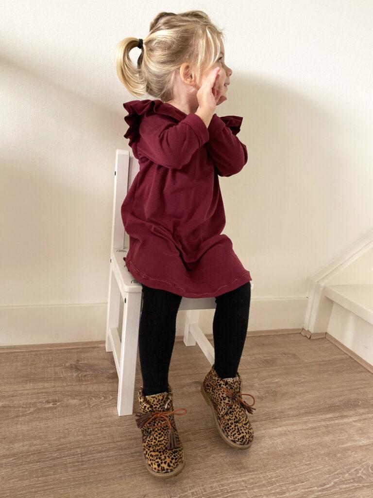 peuterschoenen, meisjes schoenen met panterprint, schoentjes maat 24 meisje