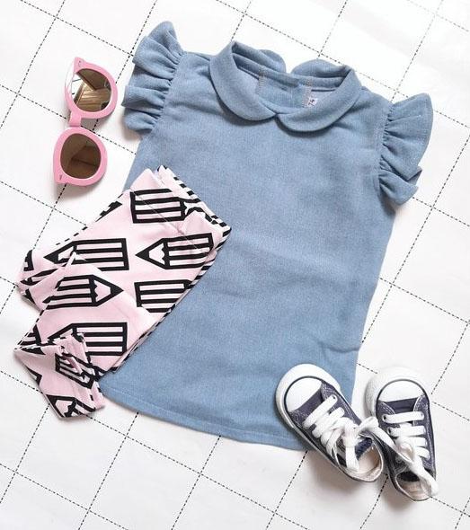 babykleding meisje, jeansjurkje, babyjurkje