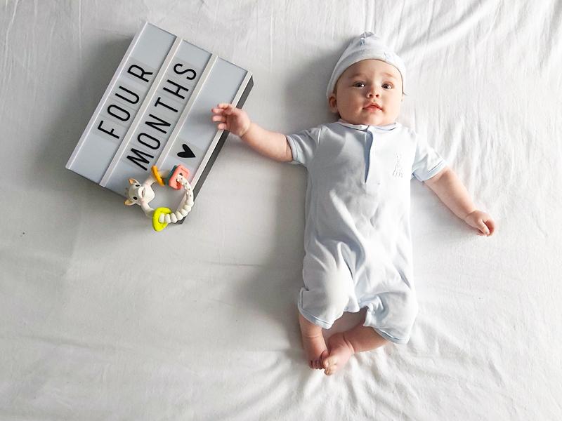 baby 4 maand, baby boy, babylabel