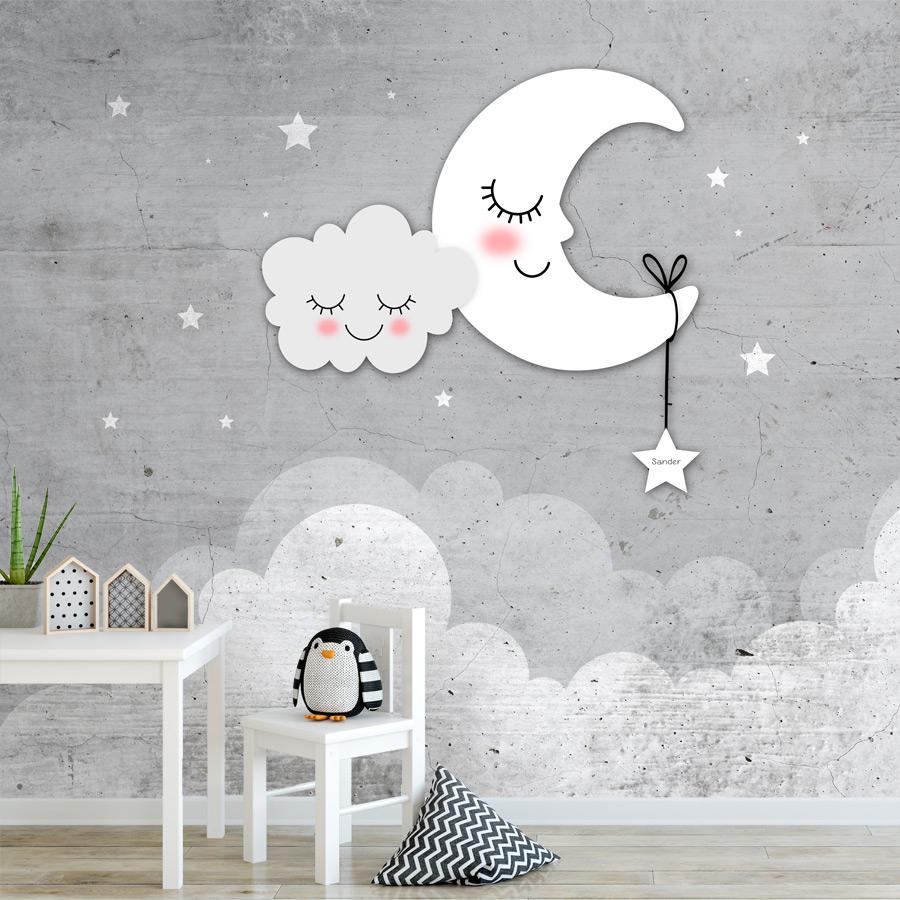 kinderbehang met maan