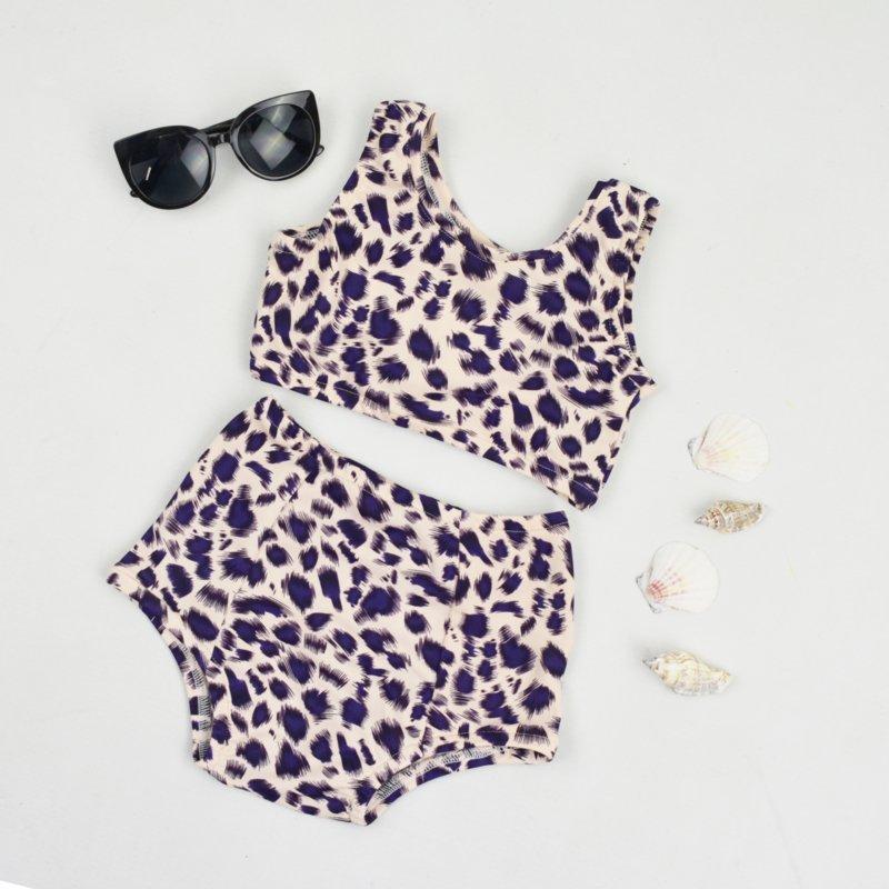 luipaard baby bikini, luipaard print baby badpak, hip babybadpakje