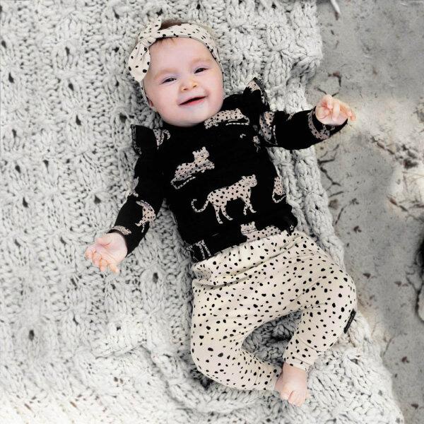 babykleding meisje, hippe baby meisjeskleding, babykleding luipaardprint, babykleding leopard print