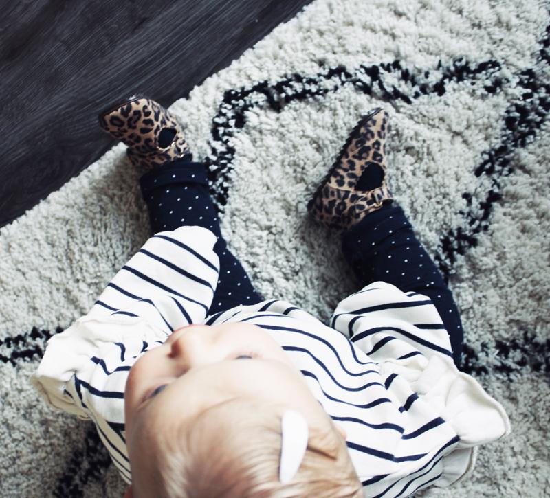 eerste stap schoentjes, eerste schoentjes meisje, eerste loopschoentjes, stapschoentjes Shoesme, panterprint babyschoentje