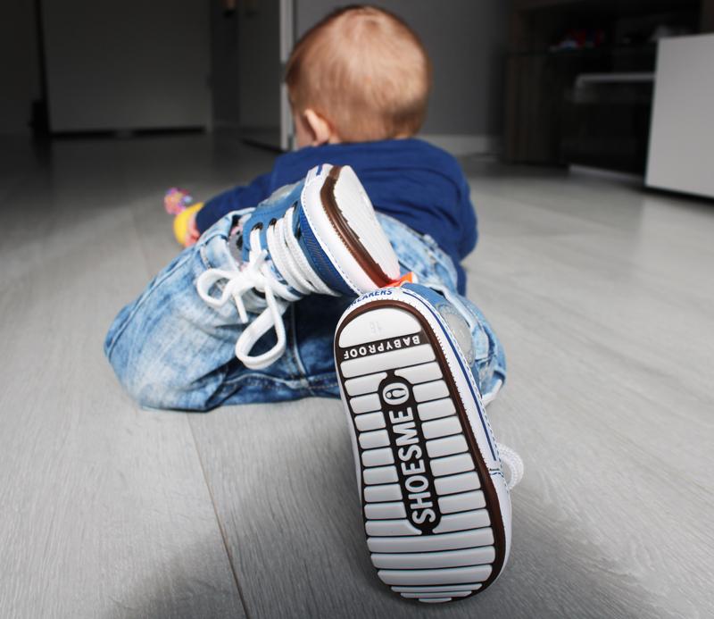 stoere babysneakers, stoere baby sneakers, shoesme sneakers, blauwe baby sneakers