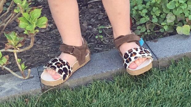 kindersandalen met luipaardprint, shoesme sandaaltjes,
