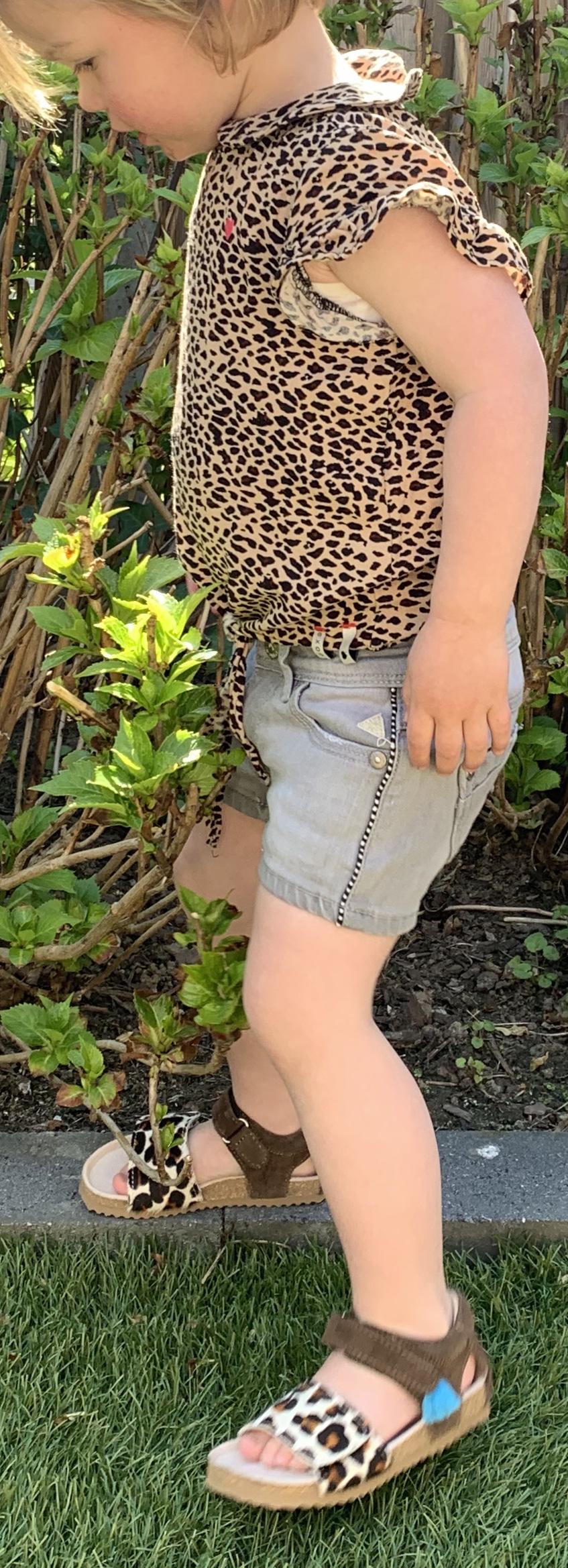 luipaard print sandalen, shoesme sandalen, hippe kindersandalen, kindersandalen met luipaardprint