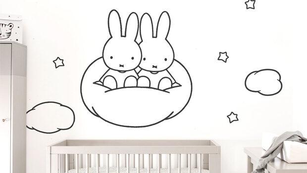 nijntje muursticker, nijntje babykamer