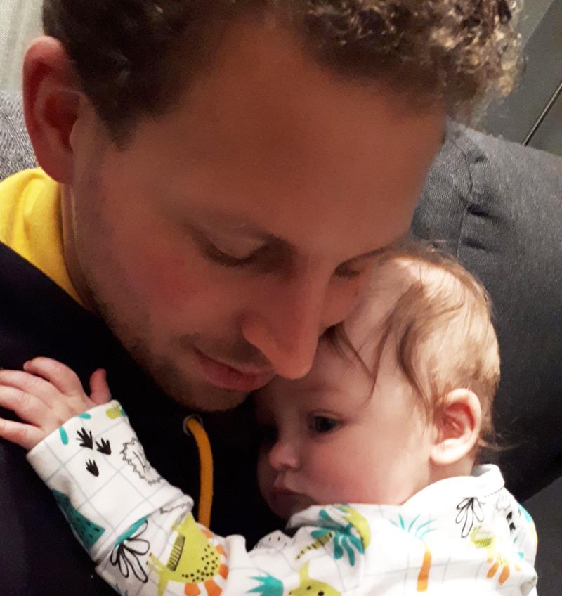paraliefde, vader en baby, babylabel, papablog, baby ongeluk