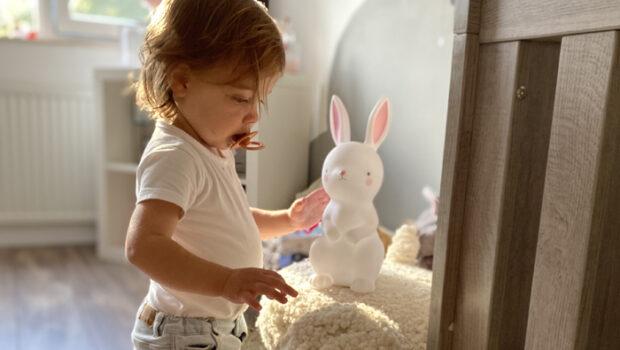 konijnen lampje, nachtlamp konijn