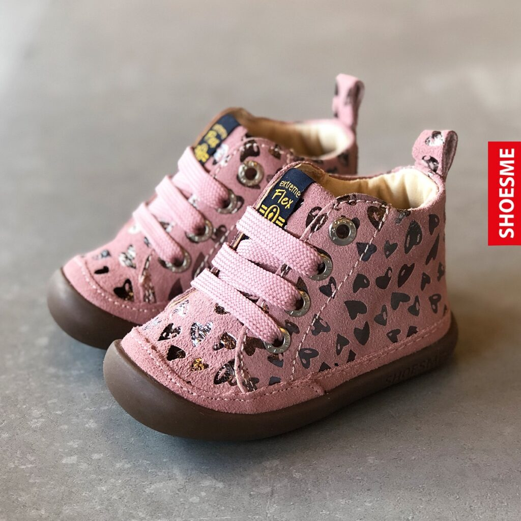 nieuwe collectie babyschoentjes, stoere babyschoentjes, schoentjes baby meisje, roze babyschoentjes, babyschoentjes met hartjes print