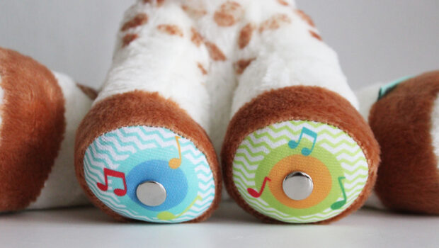 Sophie de giraf touch & music knuffel, Sophie de giraf knuffel, Sophie de giraf speelgoed, muziek knuffel