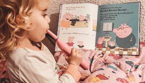voorlezen aan kleine kinderen, peppa pig, peppa pig boekjes, voorlezen is belangrijk voor kinderen