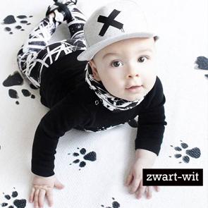 zwart wit babykleding, monochrome babykleertjes, stoere babykleertjes