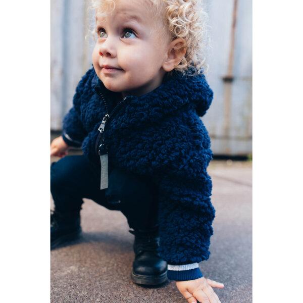 babyjasje, peuter jasje , baby winterjas, winterjas quapi, quapi jasje, baby winterjas jongens, winterjas baby jongen, donkerblauwe teddy winterjas