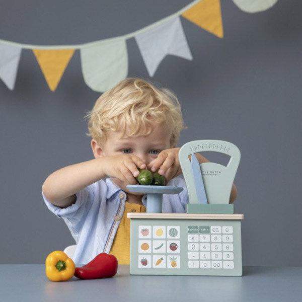 cadeau dreumes, dreumesspeelgoed, kind 18 maand, speelgoed kind 18 maand, houten weegschaal
